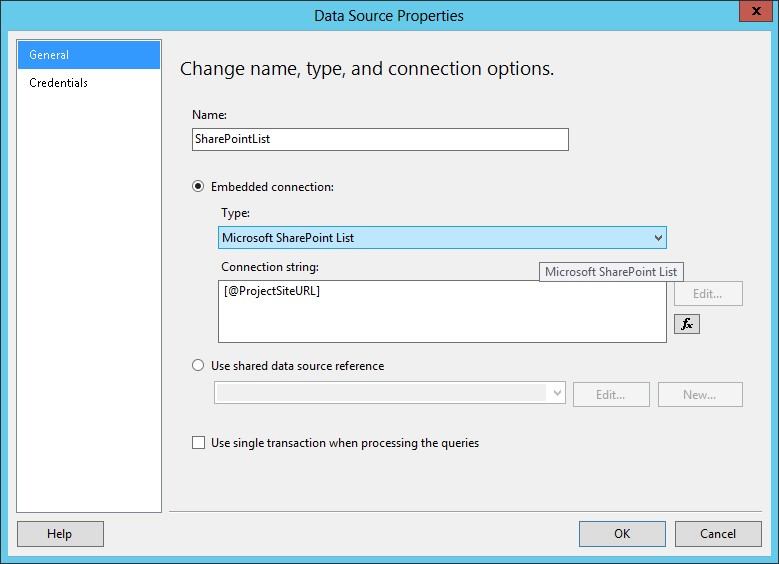 Consolidating Project Site List Data with a Scheduled SSRS
